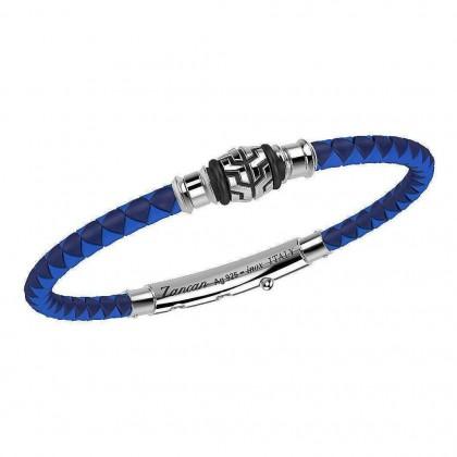 Zancan Silver & Stainless Steel Bracelet TSB030-BL