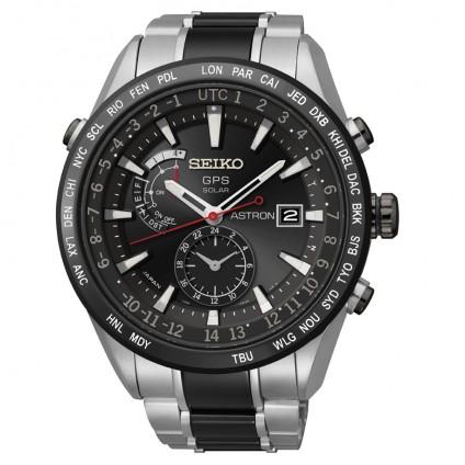 Seiko Astron 7x Titanium & Ceramic Black White