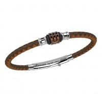 Zancan Silver & Stainless Steel Bracelet TSB028-MA
