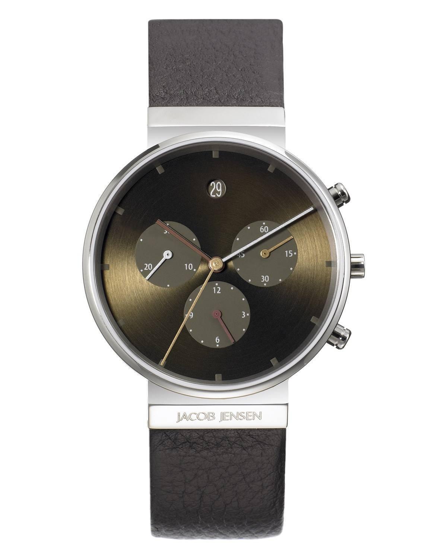 jacob jensen chronograph titanium brown dial men 39 s watch 604. Black Bedroom Furniture Sets. Home Design Ideas